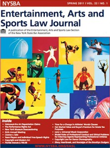 NYSBA Entertainment, Arts and Sports Law Journal